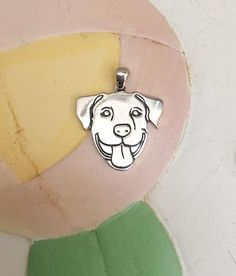 Smiling Pit Bull Sterling Silver Charm
