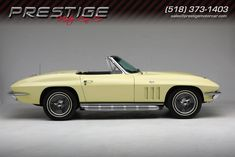 1965 Conv Frame-Off AC 4 Speed # 1 - GoldWood Yellow 1965 Corvette Convertible located in Clifton Park New York Chevy Corvette For Sale, 1965 Corvette, Chevrolet Corvette, Yellow Corvette, Used Corvettes For Sale, Clifton Park, Corvette Convertible, Yellow Interior, Gold Wood