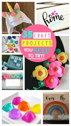 35 amazing projects you need to try this year - A girl and a glue gun