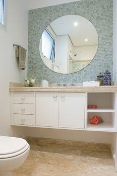 Essa Pia No Banheiro Com Esse Espelho Redondo