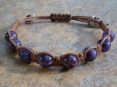 Purple Lepidolite Healing Bracelet  -Promotes a state of calm, trust & acceptance ~ Reduces depression and stress ~ Fosters change and transformation ~ http://zenjewelry.mysticnaturals.com/purple-lepidolite-healing-bracelet/