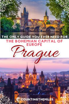 A complete guide to the capital of the Czech Republic - Prague. This includes all the top sights to see, things to do, where to eat, drink, and stay, and the very best tours. Also includes how to get into the city and around the city and an interactive map with all the sight pins.  Prague | Czech Republic | Czechia | Bohemia | Prague Old Town | Prague Castle #Prague #CzechRepublic #Czechia #Bohemia #OldTownPrague #PragueCastle #CzechFood #CzechBeer Europe Destinations, Europe Travel Guide, Travel Guides, Amazing Destinations, Outfits Winter, Outfits Spring, European Vacation, European Travel, Prague Old Town