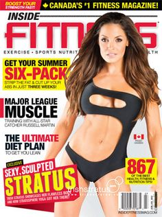 Sexy, Sculpted Trish Stratus on the cover of Inside Fitness