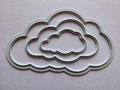 Joy! Crafts 6002/0199 - Stencil Set (3st) Wolken