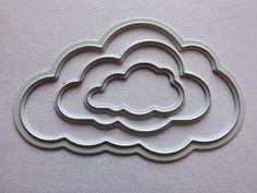 Joy! Crafts 6002/0199 - Stencil Set (3st) Wolken
