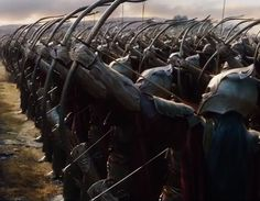 The Mirkwood elven army in The Hobbit: The Battle of the Five Armies