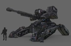 Interview With Concept Artist Elijah McNeal Part 1 of 2 Futuristic Armour, Futuristic Art, Robot Concept Art, Weapon Concept Art, Army Vehicles, Armored Vehicles, Military Weapons, Military Art, Armas Wallpaper