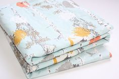 Minky Baby Blanket   Stamped Grove in Daylight  by modernmadebaby