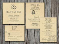 This Just Got real :)  Love it!    Wedding Invitation Suite Set  Printable Custom by SplashOfSilver, $50.00