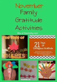 November Gratitude Inspiration and Family Activities