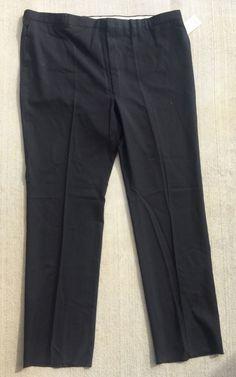 Bill Blass Men's Dress Pants Menswear Oxford Black 50 x 38 Regular Needs Hem   eBay