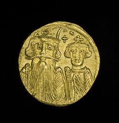 Ancient Roman #Byzantine Gold Solidus Coin Emperor Constans II