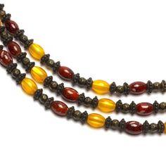 Oval Beads, Orange