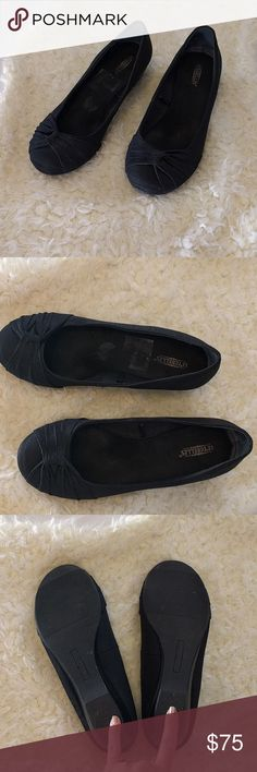 Seychelles black fabric slip on wedge These are in good used condition, small wedge, not quite flats but very comfortable. Approximately 1 inch wedge. 10 wide. From Anthropologie Seychelles Shoes Wedges
