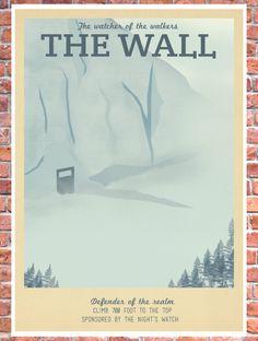 Poster Game of Thrones le mur beaucoup de par TeacupPiranha