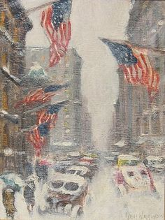 Winter Painting by Guy Wiggins American ImpressionistMadison ave