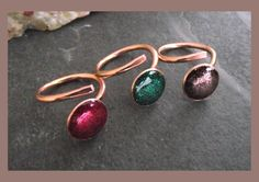solid bronze ring with sparkle resin top  adjustable  by abyjem, £10.00