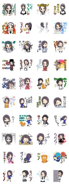 """Japanese voice actor """"Minori Chihara"""" appeared to LINE stickers  part2!Please use cute stamps!"""