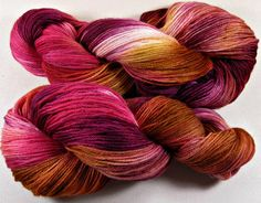 Golden Garnet Rose SW Corriedale/Nylon Yarn fingering by yarnwench