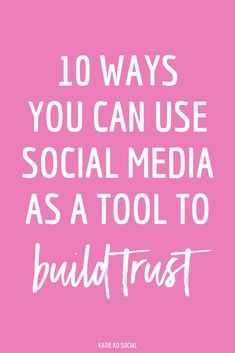 All brands should focus on how to build trust on social media. Social media is a tool you can use to build trust and showcase what sets you apart. Power Of Social Media, Social Media Images, Social Media Channels, Social Media Content, Social Media Design, Social Media Graphics, Social Media Tips, Social Media Digital Marketing, Social Media Calendar