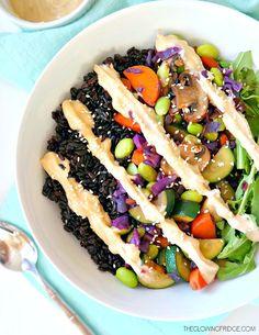 Forbidden Rice & Veggie Glow Bowl - vegan and gluten free - a nutrient-dense powerhouse bowl! | healthy recipe ideas @xhealthyrecipex |