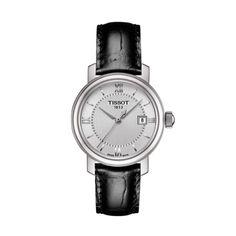 Ceas de dama TISSOT BRIDGEPORT LADY T097.010.16.038.00 Bracelet Clasps, Bracelet Watch, Bracelets, Stainless Steel Watch, Stainless Steel Bracelet, Black Face Watch, Le Locle, Watches For Men, Jewelry Accessories