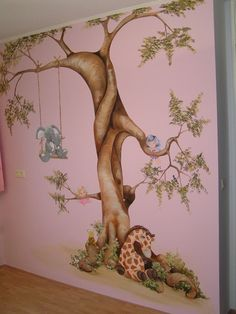 Muurschildering on pinterest wall murals murals and kids murals - Nieuw muurschildering ...