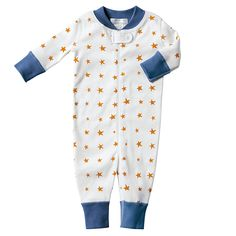 Orange Star Sleeper by Hanna Andersson: For your little star. Impeccably made of 100% organic cotton. #Baby #Onesie #Hanna_Andersson