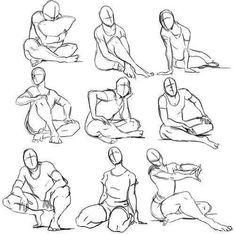 Tutorial zur Zeichnung (๑❛ڡ❛๑) – Positionen von corp # 2 – Wattpad … – Art Sketches Sitting Pose Reference, Pose Reference Photo, Anime Poses Reference, Drawing Body Poses, Body Reference Drawing, Drawing Tips, Drawing Drawing, Story Drawing, Drawing Techniques