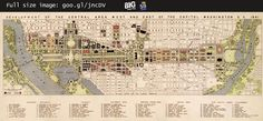 #Map of #WashingtonDC Mall Redesign Plan (1941) —   http://www.bigmapblog.com/2011/us40-8-washington-dc-mall-plan-1941/