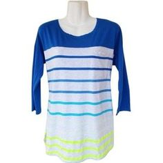 I just added this to my closet on Poshmark: Gradient Striped Front Pocket Baseball Tee. Price: $14 Size: M