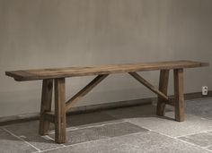 Oud houten bankje | Woonland Reclaimed Furniture, Bench Furniture, Furniture Design, Fall Home Decor, Autumn Home, Old Benches, Scrap Wood Projects, Old Wood, Handmade Furniture