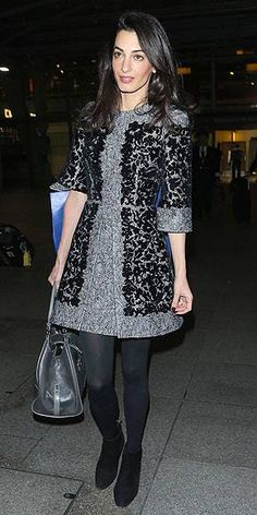 The new Mrs. George Clooney is wearing this Dolce & Gabbana dress (plus a leather tote and suede booties) to the airport. Seeing as you are not married to , feel free to continue to wear jeans and a hoodie to the airport, and save this outfit for a really fun office party.