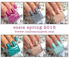 Essie Spring 2015. We got your collection swatches at www.imabeautygeek.com!