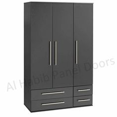 This is Three Doors 4 Drawers Wardrobe. Code is Product of Wardrobes - Free standing wardrobes, lamination wardrobe, UV wardrobes, Modern fancy wardrobe, will be ready on order Al Habib Three Door Wardrobe, Oak Wardrobe, Wardrobe Door Designs, Wooden Wardrobe, Sliding Wardrobe Doors, Wardrobe Storage, Bedroom Wardrobe, Wardrobe Closet, Closet Designs