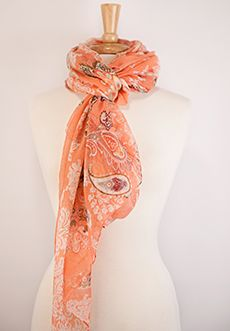 "Homecoming Trunk Shows - Luxurious lightweight scarf that adds a hint of spring  color to your outfit. Soft and delicate for a day of running errands and the most comfortable wrap as you go into the night.    Approx. 72""L by 43""W  Lighweight  100% Polyester  Handwash, dry flat"
