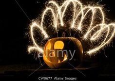 Pumpkin and fireworks © James Watson / Alamy