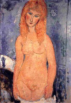 Amedeo Modigliani. Rubia desnuda, 1917. óleo sobre lienzo. WikiPaintings.org - the encyclopedia of painting