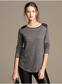 Lace-Shoulder Tee which is GREAT for layering.  Great price too.