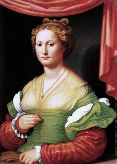 Innocenzo di Pietro Francucci da Imola  (c1490-c1550)  — Portrait of a Woman, c,1530 (571x799)