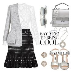"""Cool as a cucumber"" by pensivepeacock ❤ liked on Polyvore featuring Hillier Bartley, Lara Bohinc, Marc Jacobs, Alexander McQueen, Prada, John Hardy and Christian Dior"