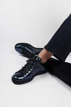 GOOD AS GOLD | Streetwear, Fashion, Sneakers & Accessories — Womens Basket Metallic - indigo/indigo/black