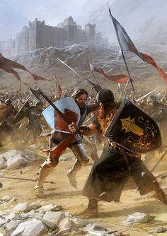Hot Fantasy Illustrations by Slawomir Maniak Fantasy Battle, Fantasy Warrior, Fantasy Rpg, Medieval Fantasy, Fantasy World, Fantasy Artwork, Fantasy Faction, Arte Game Of Thrones, Image Digital