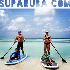 Paddleboarding is fun for the whole family at Stand Up Paddle Aruba! - www.SUPARUBA.com -