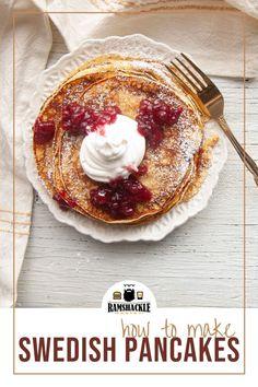 Best Italian Dishes, Best Dishes, Sweet Breakfast, Breakfast Recipes, Swedish Pancakes, Cake Calories, Heritage Recipe, Hot Butter, Scandinavian Food