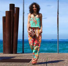Happy Monday from Emamo'! Summer is finally arrived...  Special Thanks to La MORA glamour and Marconi5ViaRocca !  #fashion #jumpsuit #emamo #ss15 #colors #beachwear #sun #amazing