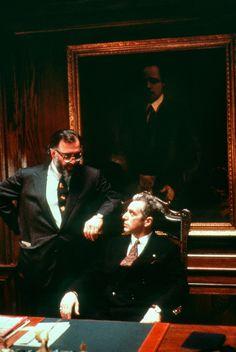 Behind the scenes: 'The Godfather' trilogy. 17 rare shots of Marlon Brando, Al Pacino and Francis Ford Coppola in production on one of film history's greatest trilogies. Al Pacino, The Godfather Part Iii, Godfather Movie, Robert Evans, Diane Keaton, Marlon Brando, Jack Nicholson, Fredo Corleone, San Gennaro