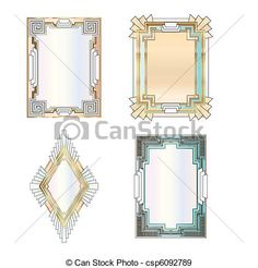 art deco stationery designs - Google Search