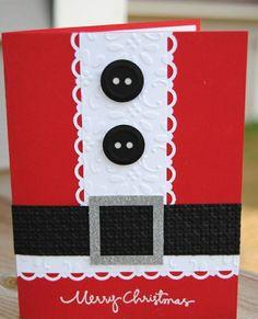 Christmas cards crafts Santa Claus clothing