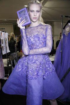 Juliana Schurig - Backstage at Elie Saab Spring 2014 Couture